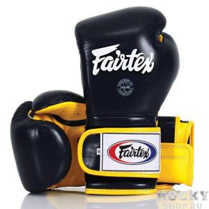 Боксерские перчатки Fairtex BGV9 black/yellow, 12 OZ Fairtex