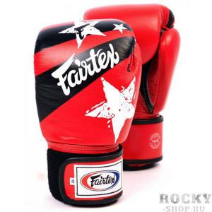 Боксерские перчатки Fairtex Nation Print, красные, 10 oz Fairtex
