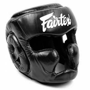 Боксерский шлем Fairtex HG13 верх на шнуровке, M Fairtex