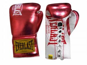 Боевые перчатки Everlast 1910 Classic Metallic Red, 10 oz Everlast