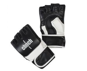 Перчатки для смешанных единоборств Clinch MMA, черно-белые Clinch Gear